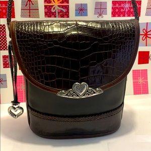 VTG Brighton Leather Croc Shoulder/CrossbodySling